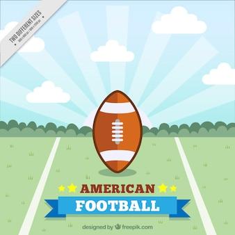 フラットデザインのアメリカンフットボールの背景