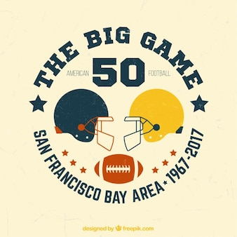 American football background in retro style