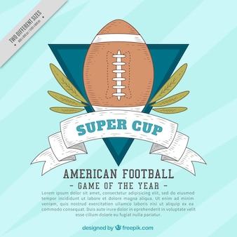 American football background in vintage design