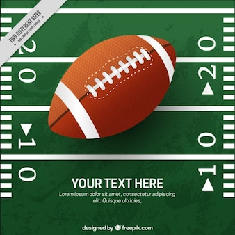 79c728df5d9 American football background with pitch and ball in realistic style