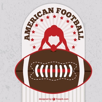 American football background with player silhouette