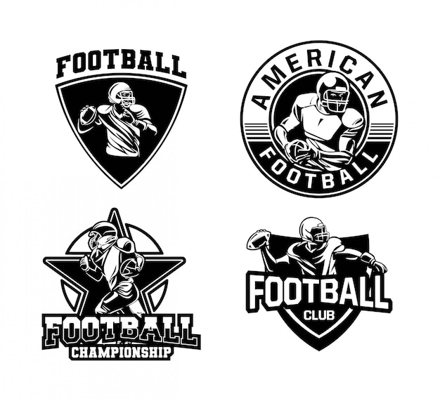 American football badge logo collection