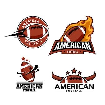 アメリカンフットボールのバッジのロゴのテンプレート