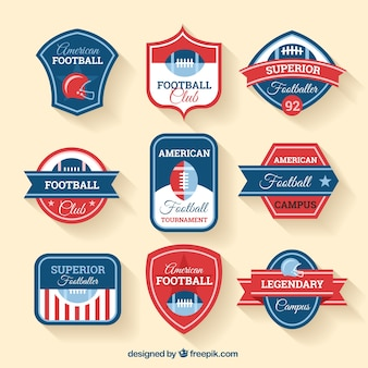 アメリカンフットボールのバッジ