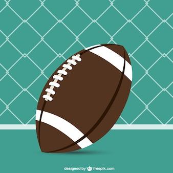 Американский футбол вектор бесплатный шаблон