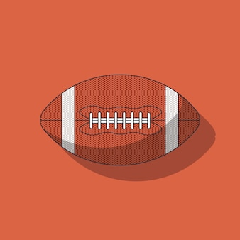 American football ball on brown background