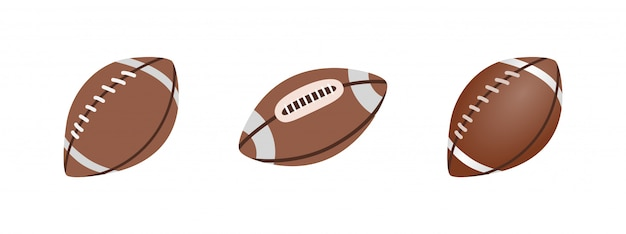 American football ball isolated on a white background. realistic  illustration. rugby sport.