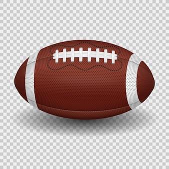 미식축구 공입니다. 현실적인 아이콘입니다. 투명 한 배경에 고립 된 벡터 일러스트 레이 션
