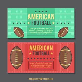 ヴィンテージデザインのアメリカンフットボールのバナー