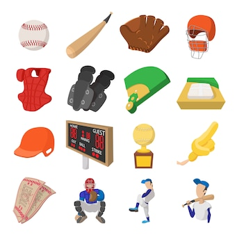 American football cartoon icons for web and mobile devices