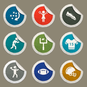 American football color icon for web sites and user interface