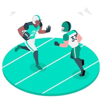 American football concept illustration