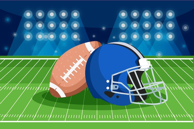 Illustrazione di concetto di football americano