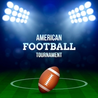 Illustrazione di concetto di football americano