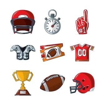 Набор элементов американского футбола