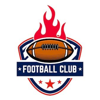 American football emblem template