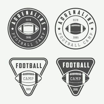 American football emblems or badges