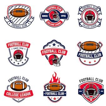 Эмблемы американского футбола. элемент для логотипа, этикетки, знака. образ
