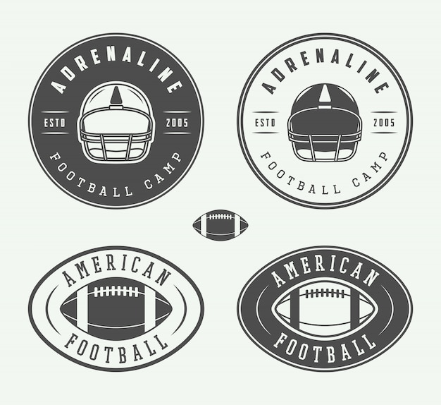 American football emblems and logo.