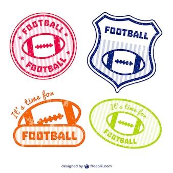 American football emblems set
