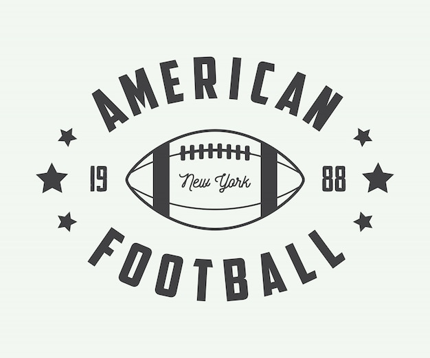 American football emblems.