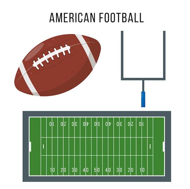 미식 축구 장비는 스포츠 경기를위한 축구 성분 및 부속품을하기위한 스포츠 공 문과 법원을 놓았습니다