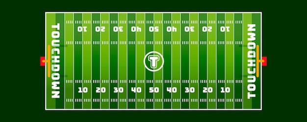 Campo di football americano in vista dall'alto
