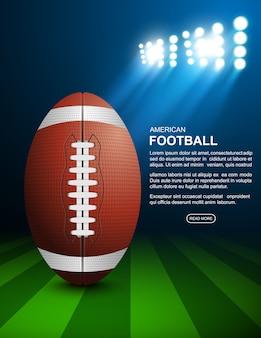 American football on field, vector