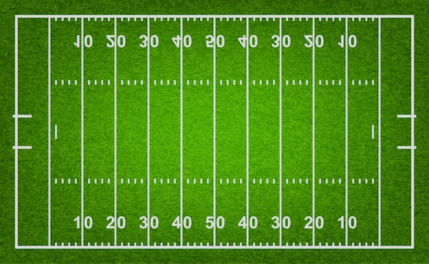 American football field with grass texture.