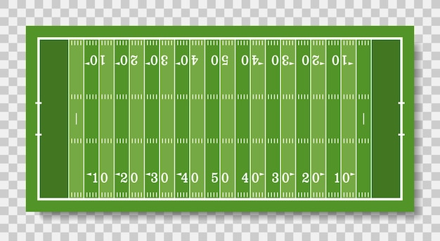 American football field with line