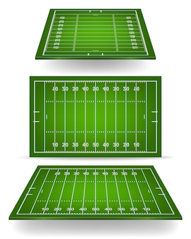 American football field with perspective.