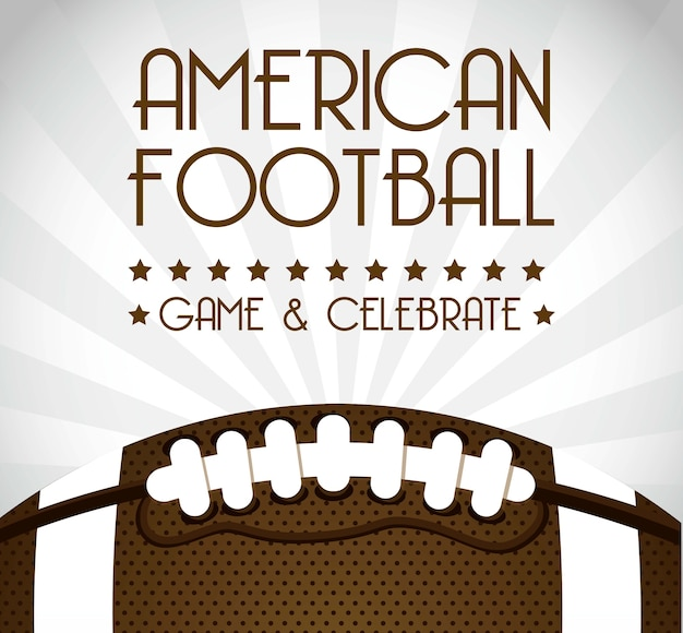 American football over gray background vector illustration
