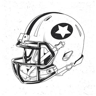 Illustrazione del casco di football americano