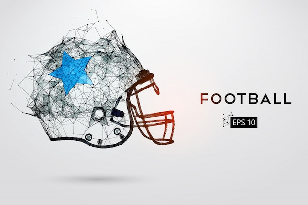 黒のアメリカンフットボールのヘルメット。ベクトルイラスト