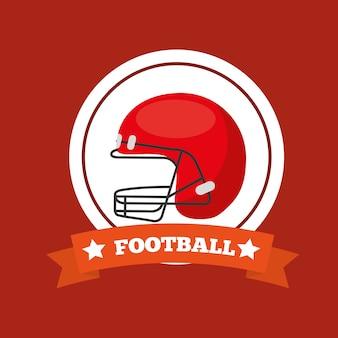 American football helmet sport game emblem