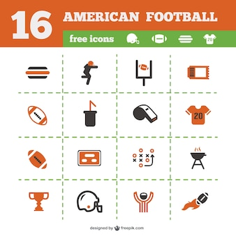 American football icons collection