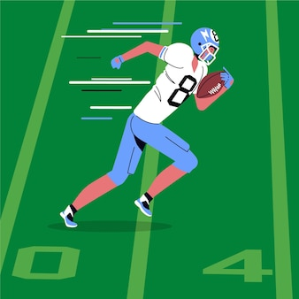 Illustrazione di football americano