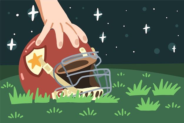 Illustrazione di football americano