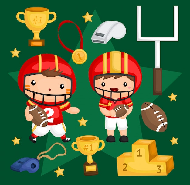American football image set