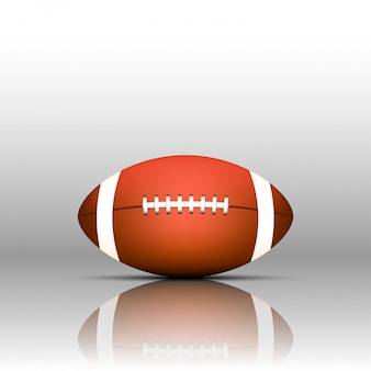 American football isolate on white background