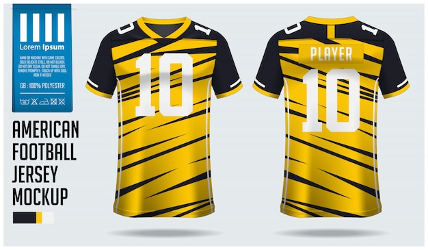 American football jersey or football kit template