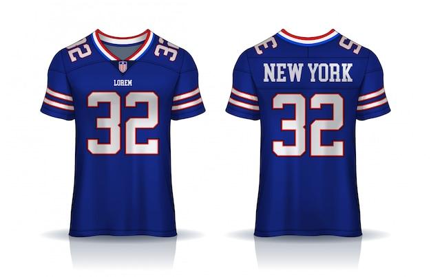Premium Vector | American football jersey,t-shirt sport template ...