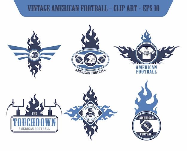 American football label sticker