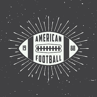 American football labels, emblems