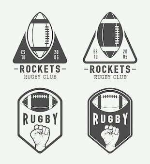 American football labels