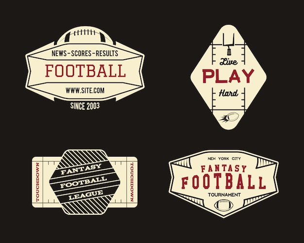 American football logo set