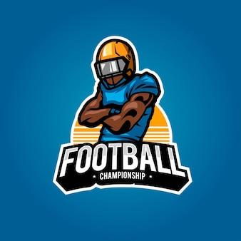 American football logo sport template design