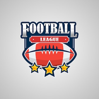 American football logo template
