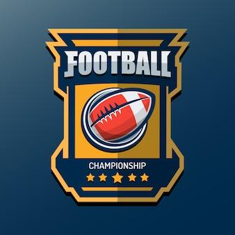 アメリカンフットボールのロゴテンプレート
