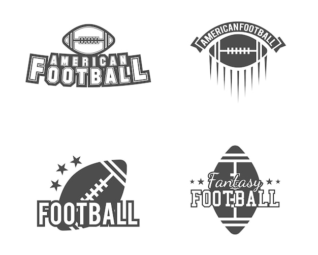 American football logos bundle